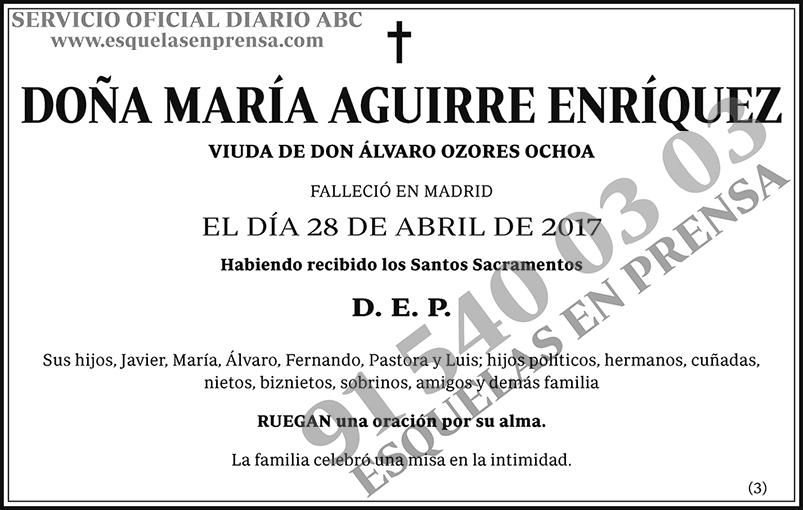 María Aguirre Enríquez
